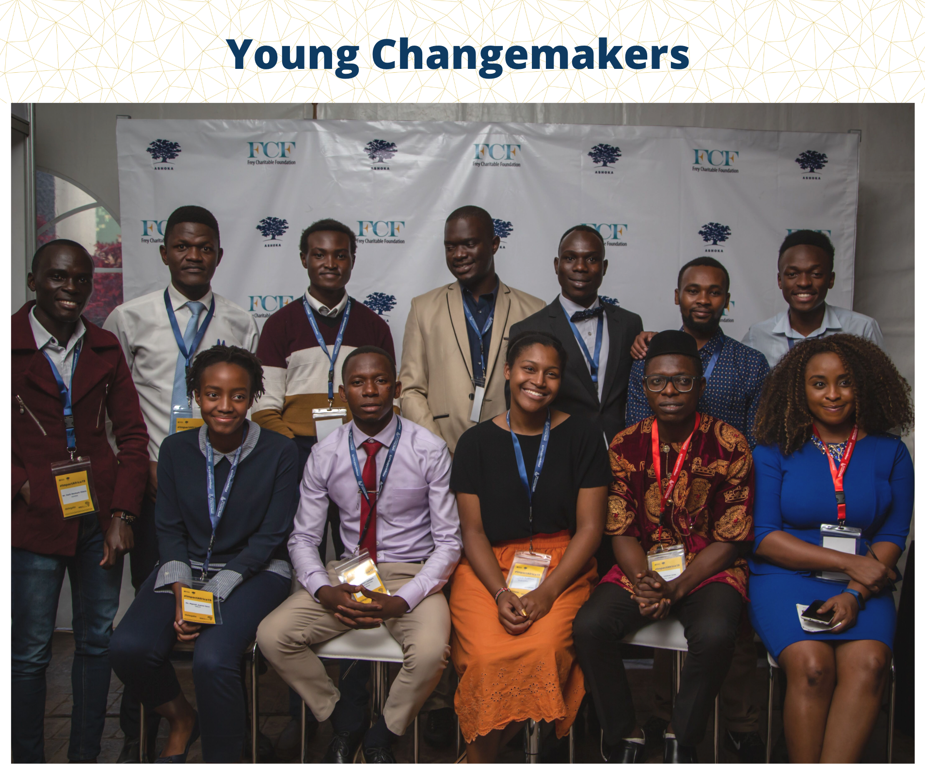 Young social entrepreneurs at the impact Africa summit