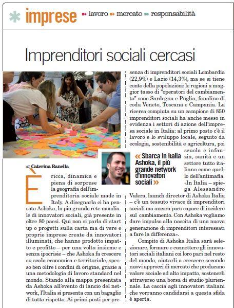 Imprenditori sociali ashoka italia