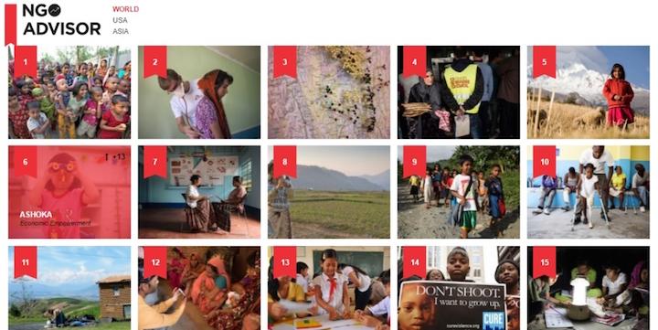 Ashoka en sexto lugar entre los 500 ONGs más Importantes del Mundo