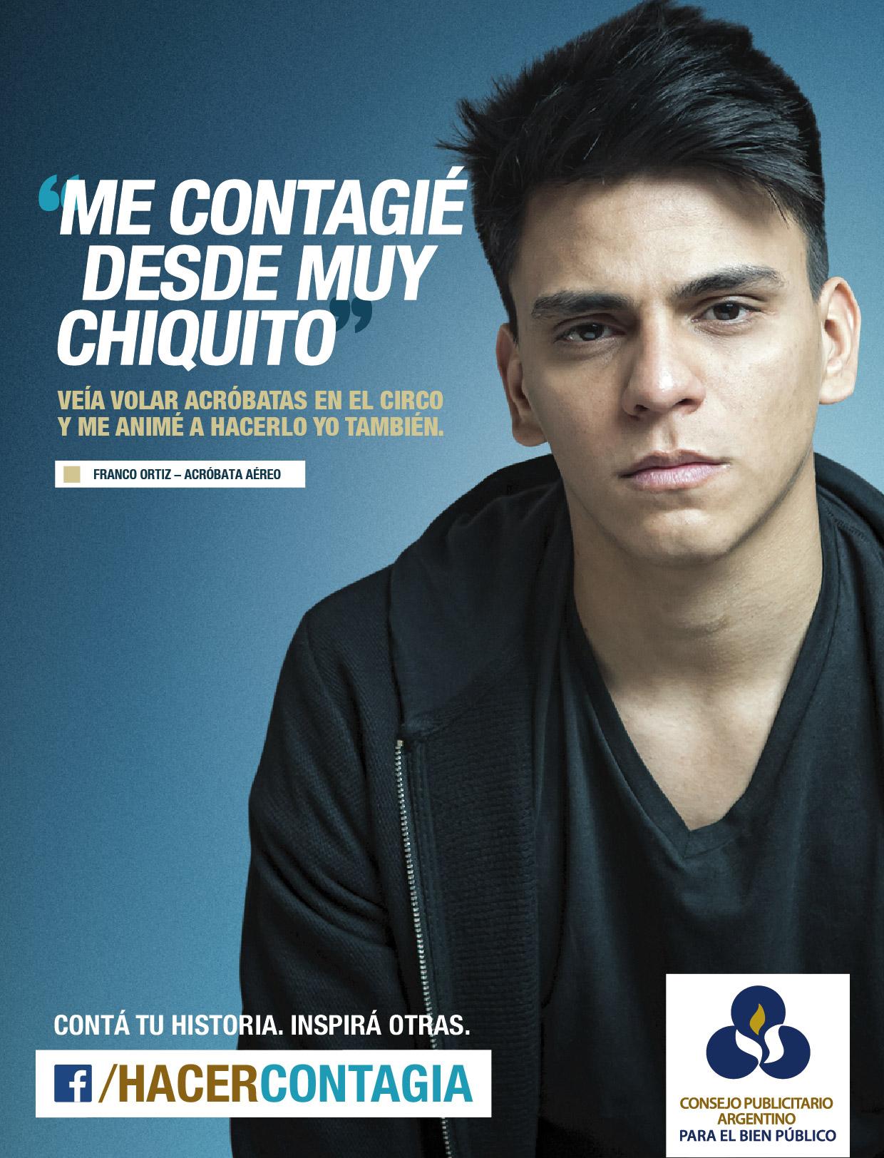 Franco Ortiz, Hacer Contagia