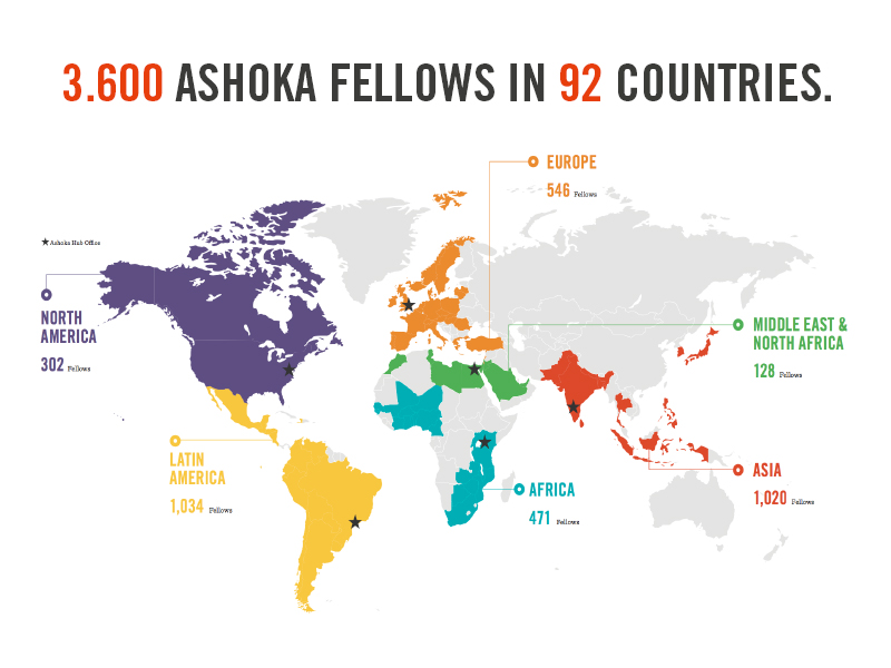 Fellows in 92 Countries