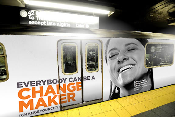 Subway ad: Everyone Can Be a Changemaker
