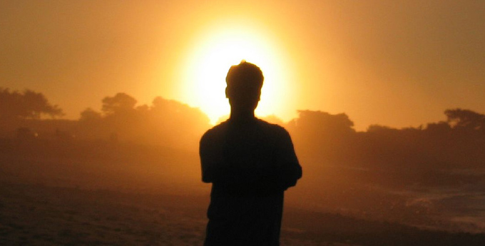 Person in Sunset