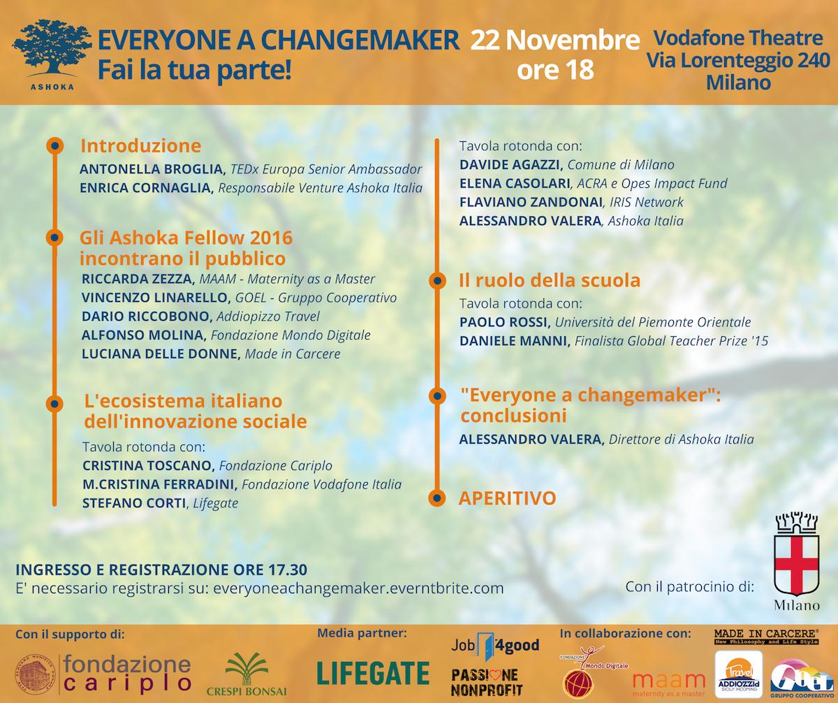 Everyone a changemaker: Fai la tua parte!