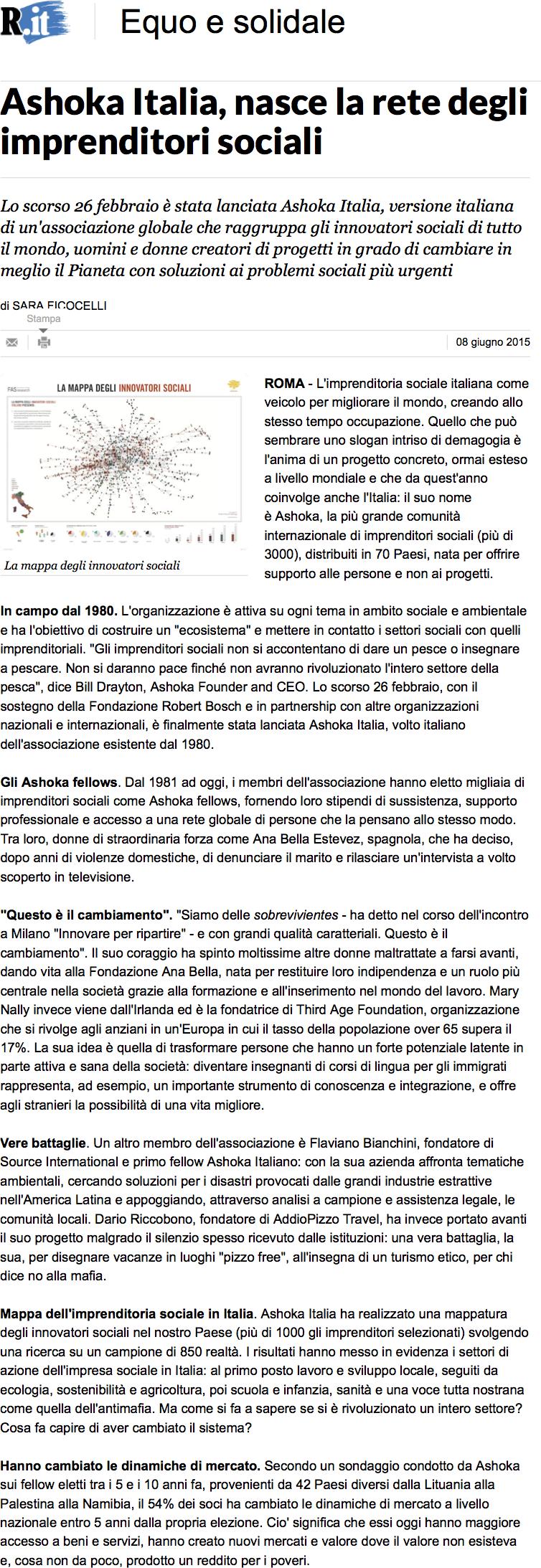 Ashoka Italia repubblica.it