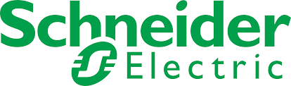 Schneider Electric Logo, partner of Ashoka in multiple countries. Large type Schneider in green above green outline of an S, with the word Electric also in green but in smaller font than everything else