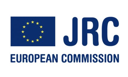 Logo for Join Research Centre, Partner of Ashoka Italy. EU flag to the left, big dark blue blue letters JRC to the right; smaller lettering for the following words in dark blue: European Commission