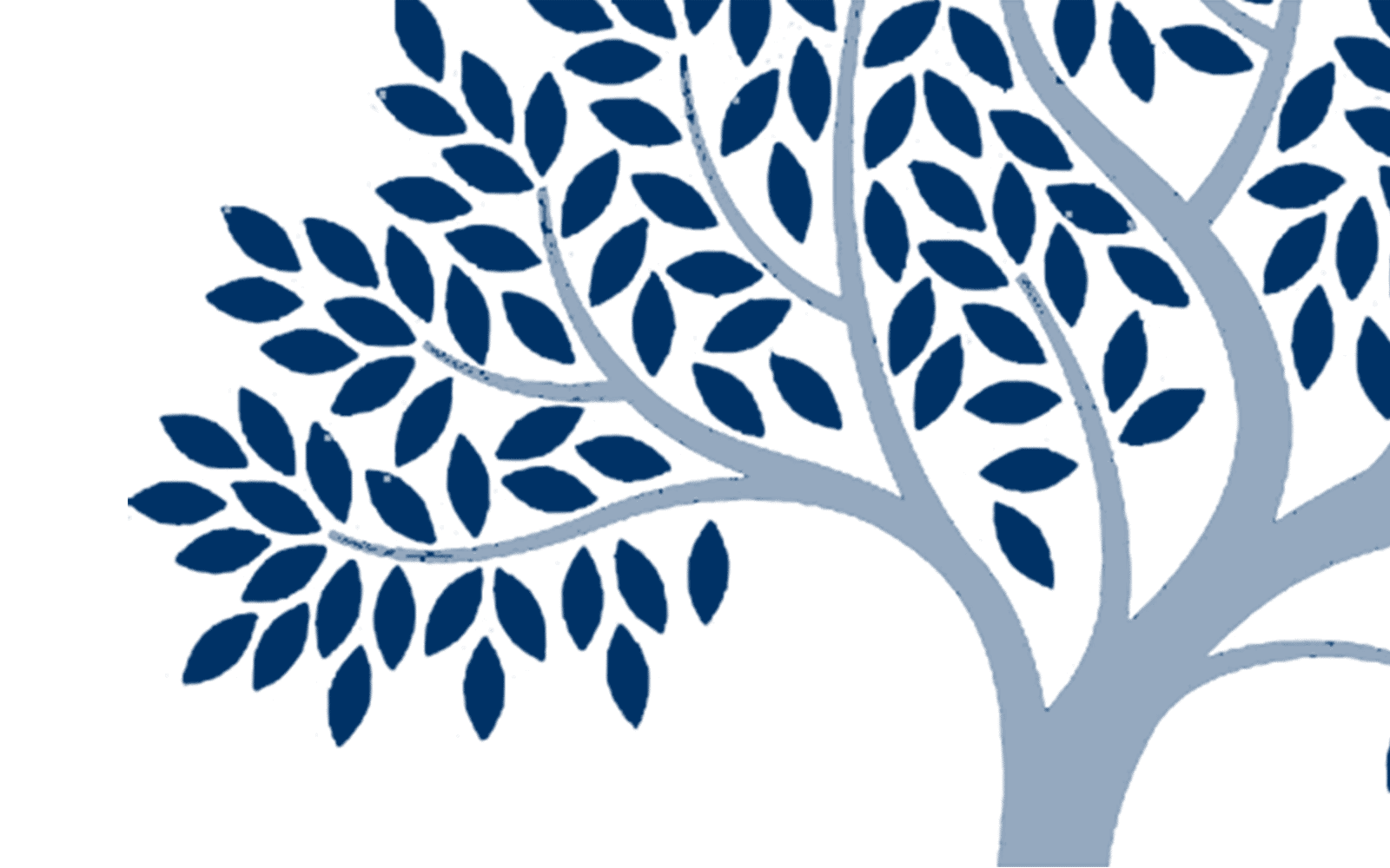 Dark blue tree with leaves