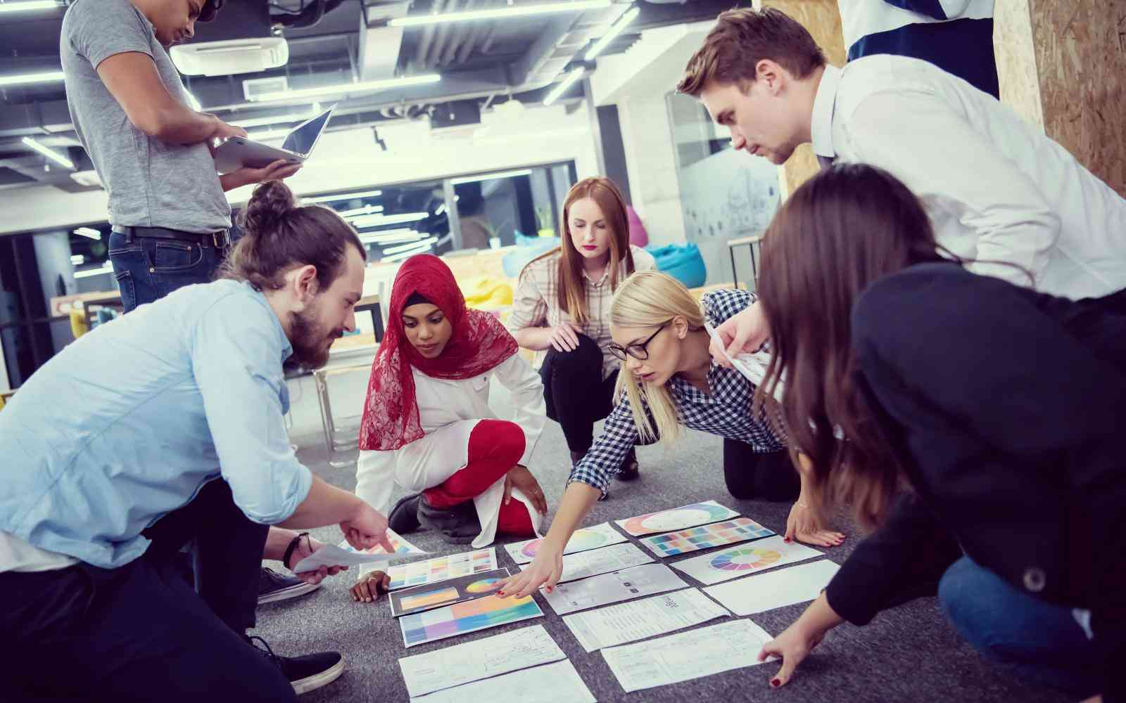 diverse colleagues collaborating