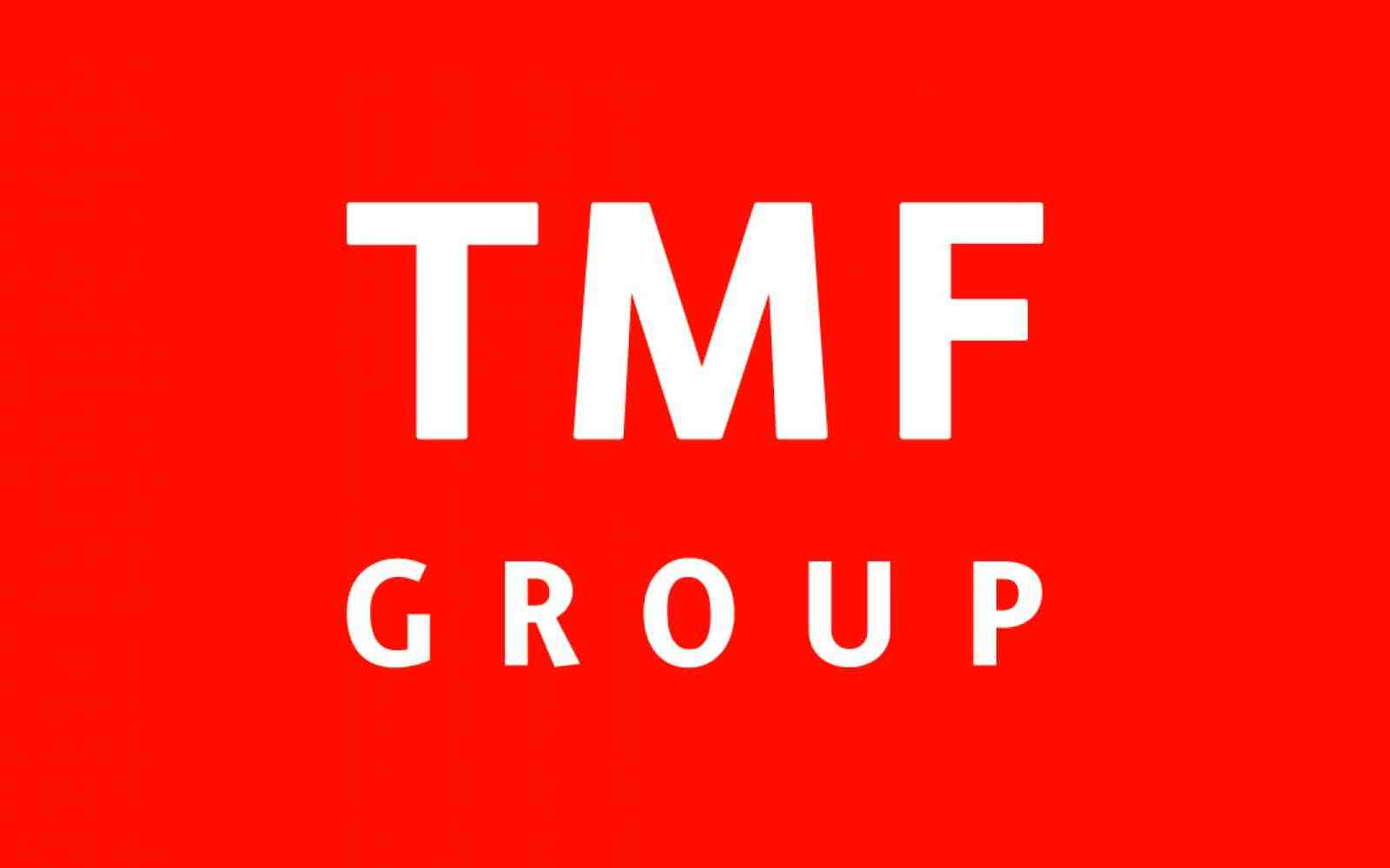 TMF Group logo; Bright red square; center of it are the capital letters in white: TMF, below are smaller capital letters in white: GROUP.