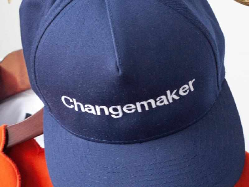 Cap with Changemaker written on it