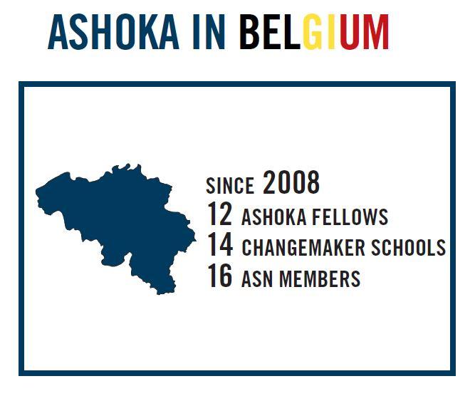 Ashoka Belgium Map