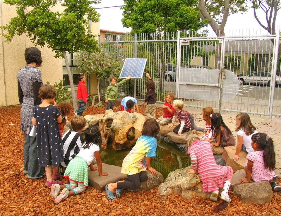 Schoolyard Sharon Danks Article with Children