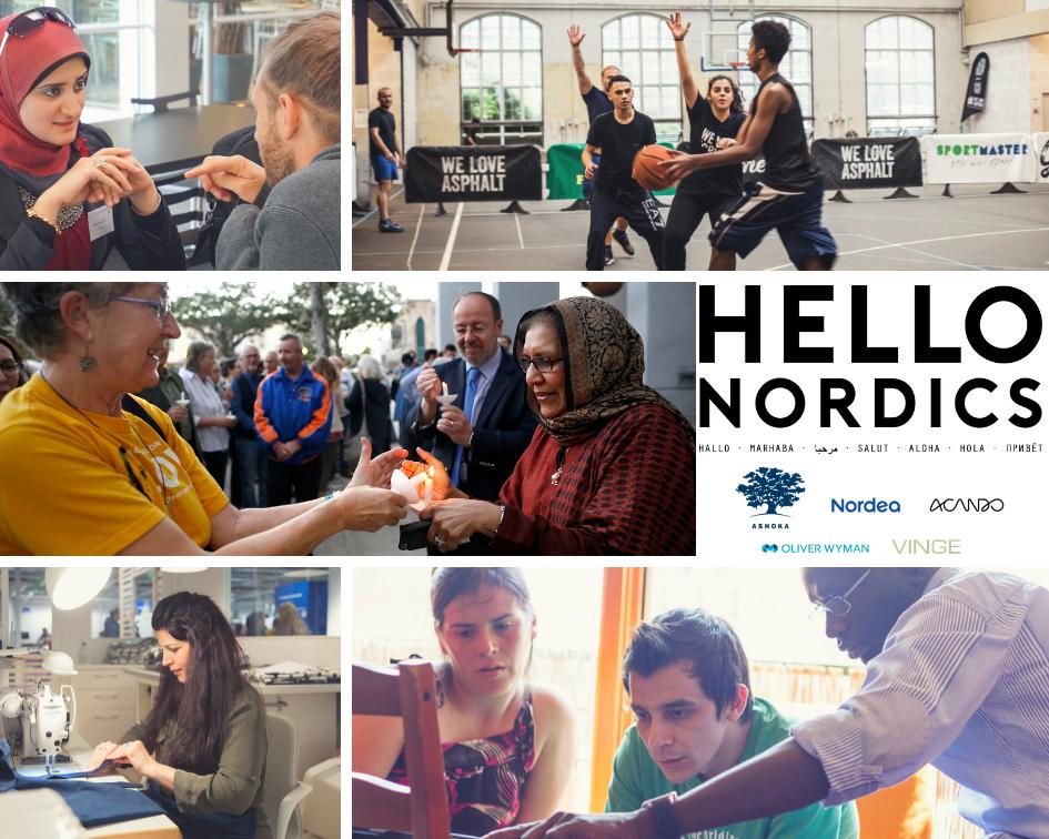 Hello Nordics collage