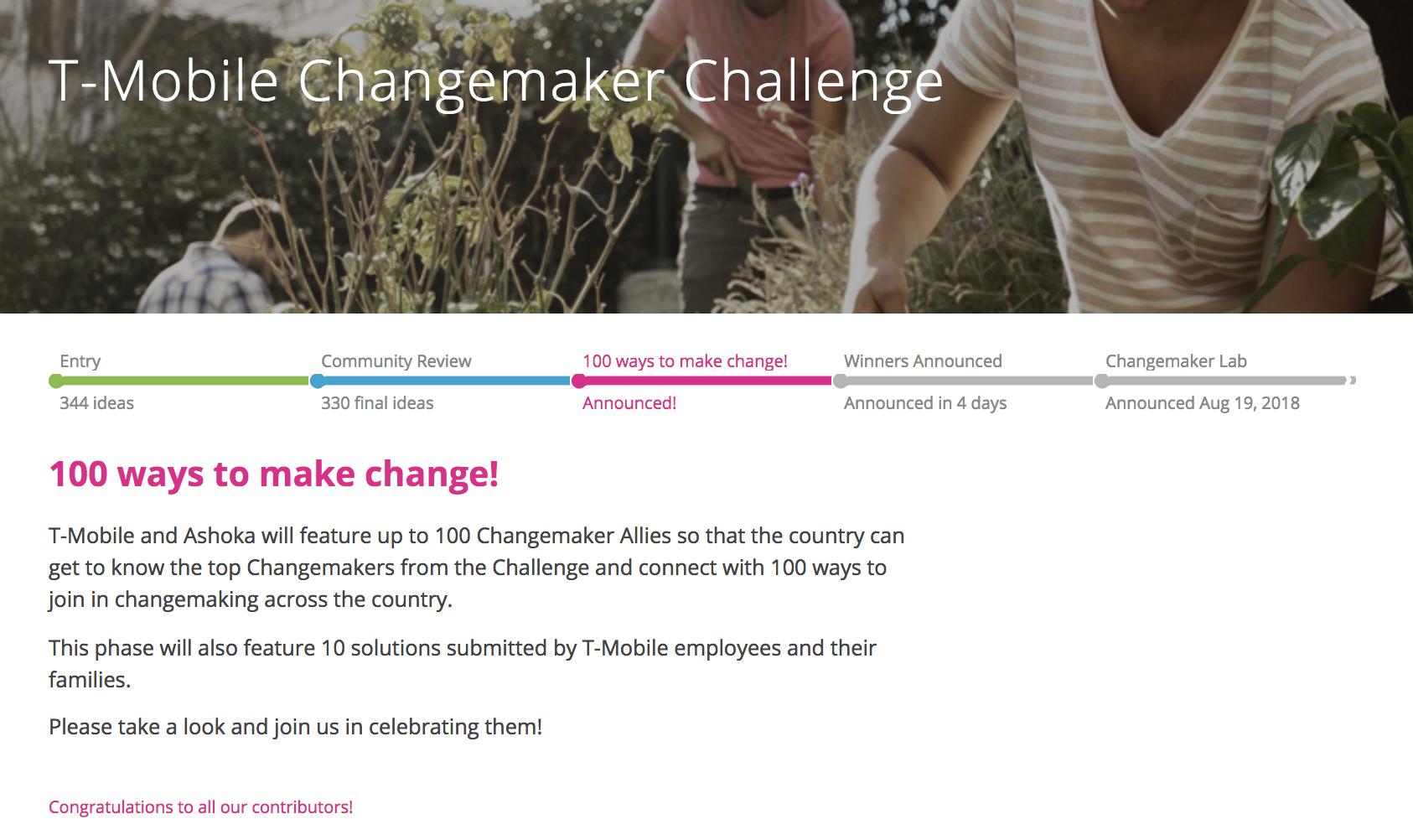 Changemaker100
